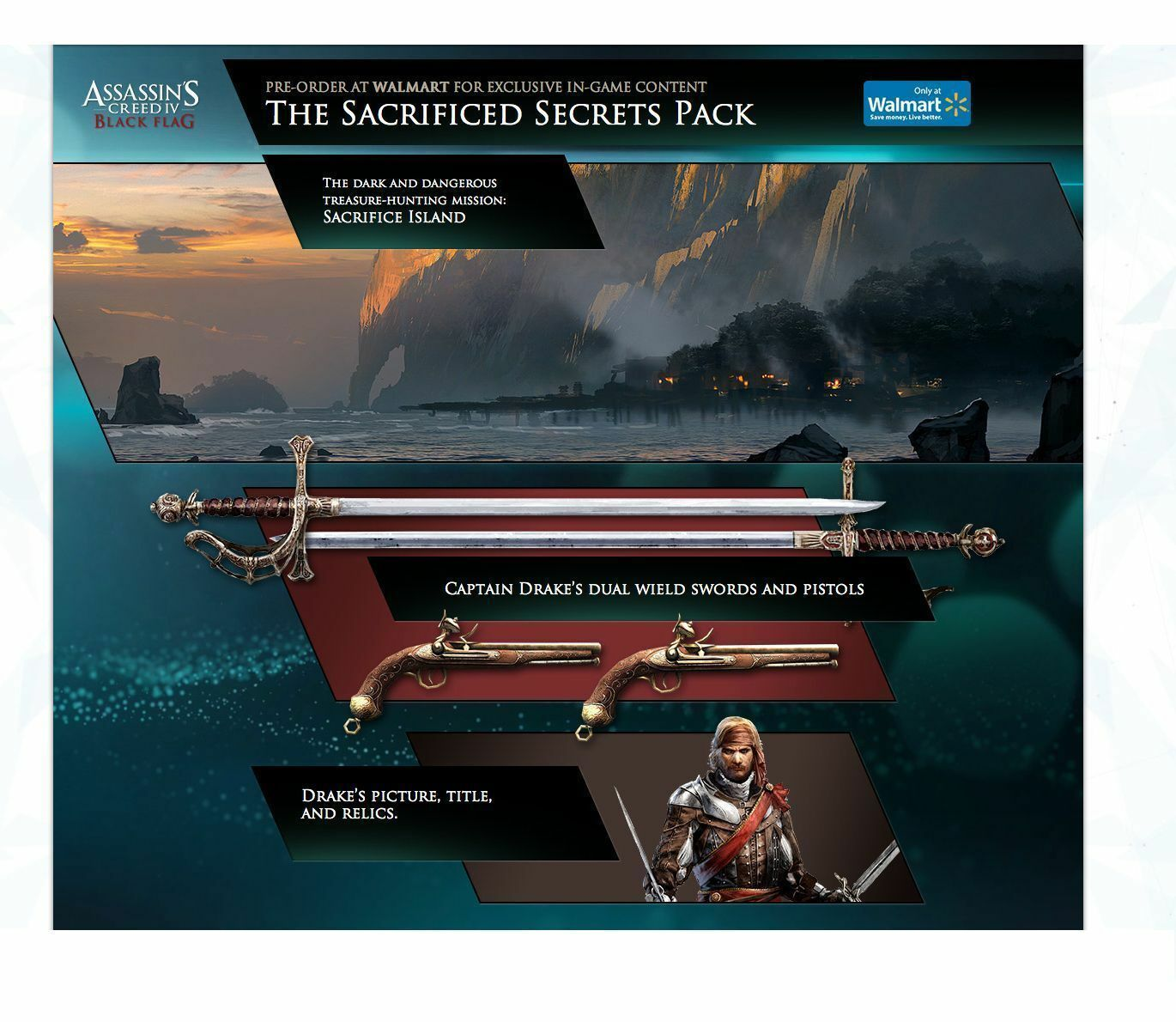 Details about Assassin's Creed IV: Black Flag - Sacrificed Secrets DLC Pack  [PlayStation 3]