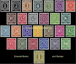 EBS-Germany-1946-Allied-Occupation-Numerals-set-Michel-911-937-MNH