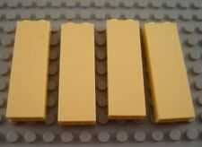 LEGO Lot of 4 Light Yellow 1x2x5 Wall Brick Pieces