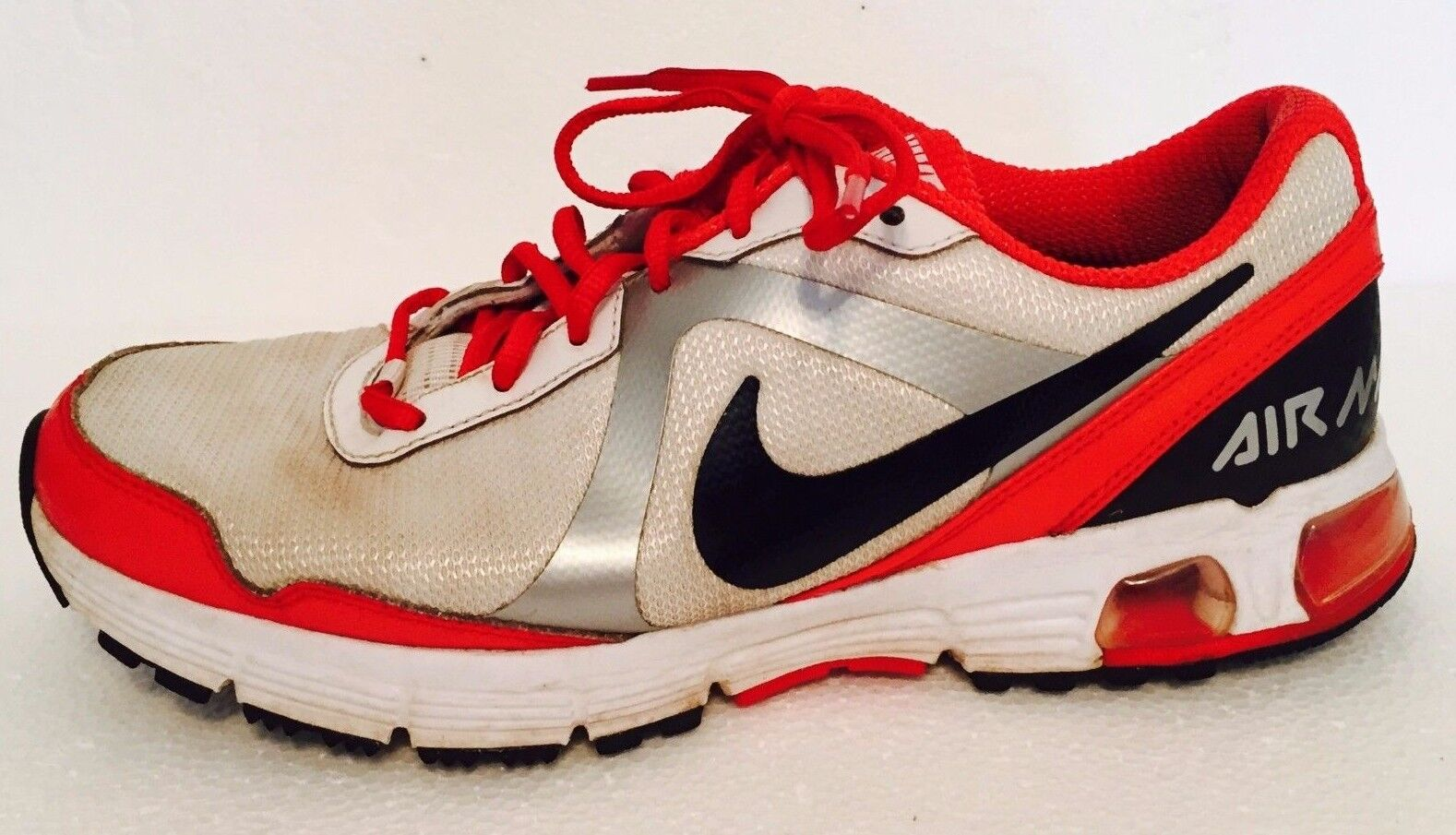 Nike Air Max Sz 8.5 Red & White Running Shoes Sneakers The most popular shoes for men and women