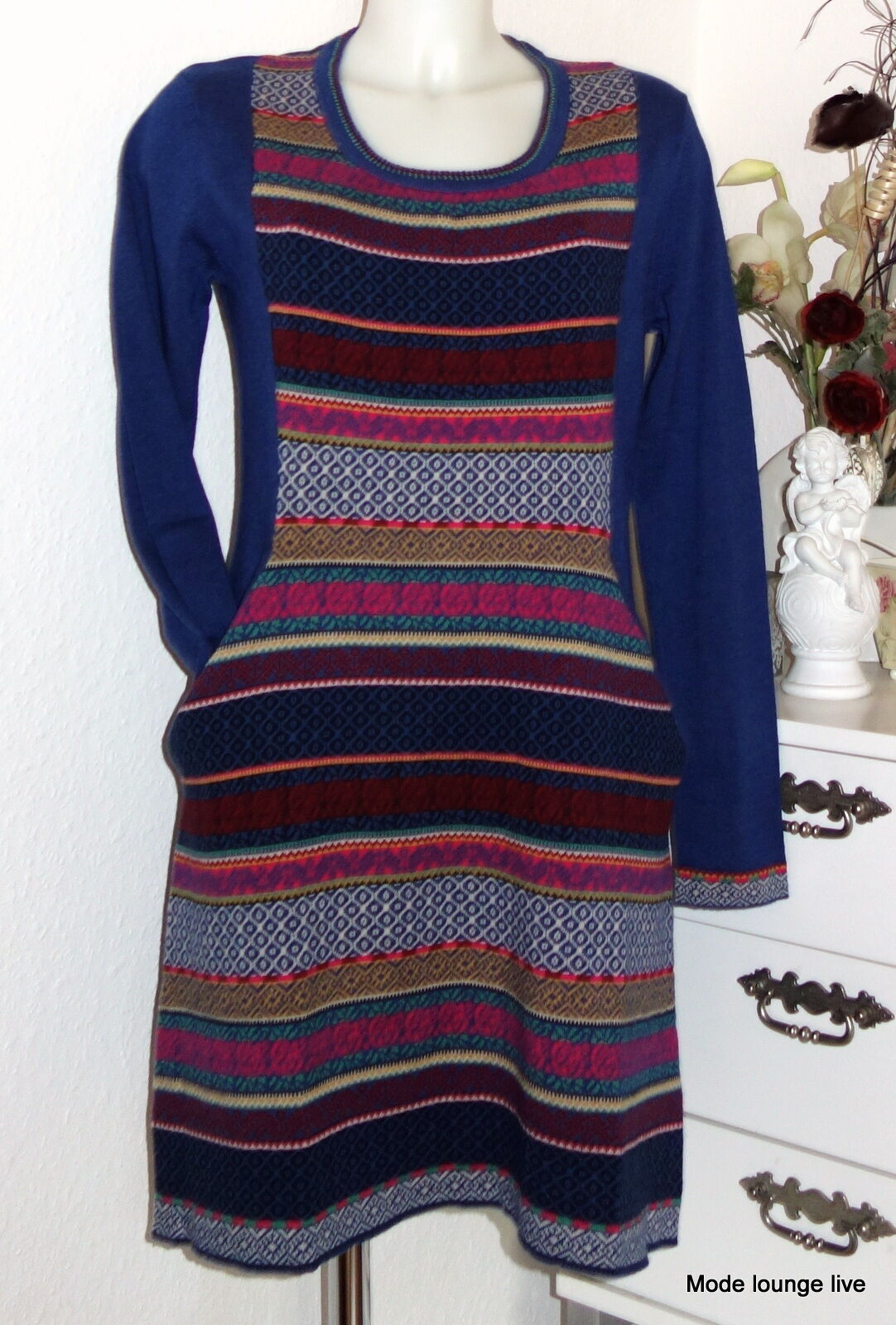 Thought Braintree Kleid Indigo Biobaumwolle organic cotton Penda Dress wwd 2412