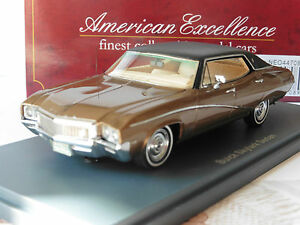 BUICK-SKYLARK-SEDAN-1968-METAL-BROWN-NEO-44708-1-43-BLACK-ROOF-LIMITED-EDITION
