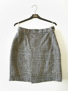 Vivienne-Westwood-Gold-Label-Plaid-Wool-Tartan-Pencil-Skirt-90s-Size-14-UK-10-12