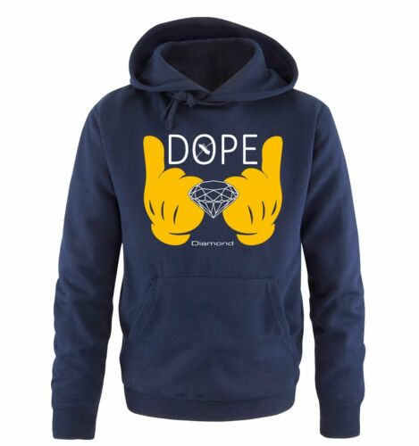 Comic Hand Herren Hoodie Fa Comedy Shirts Gr S-XXL Versch DOPE Diamond