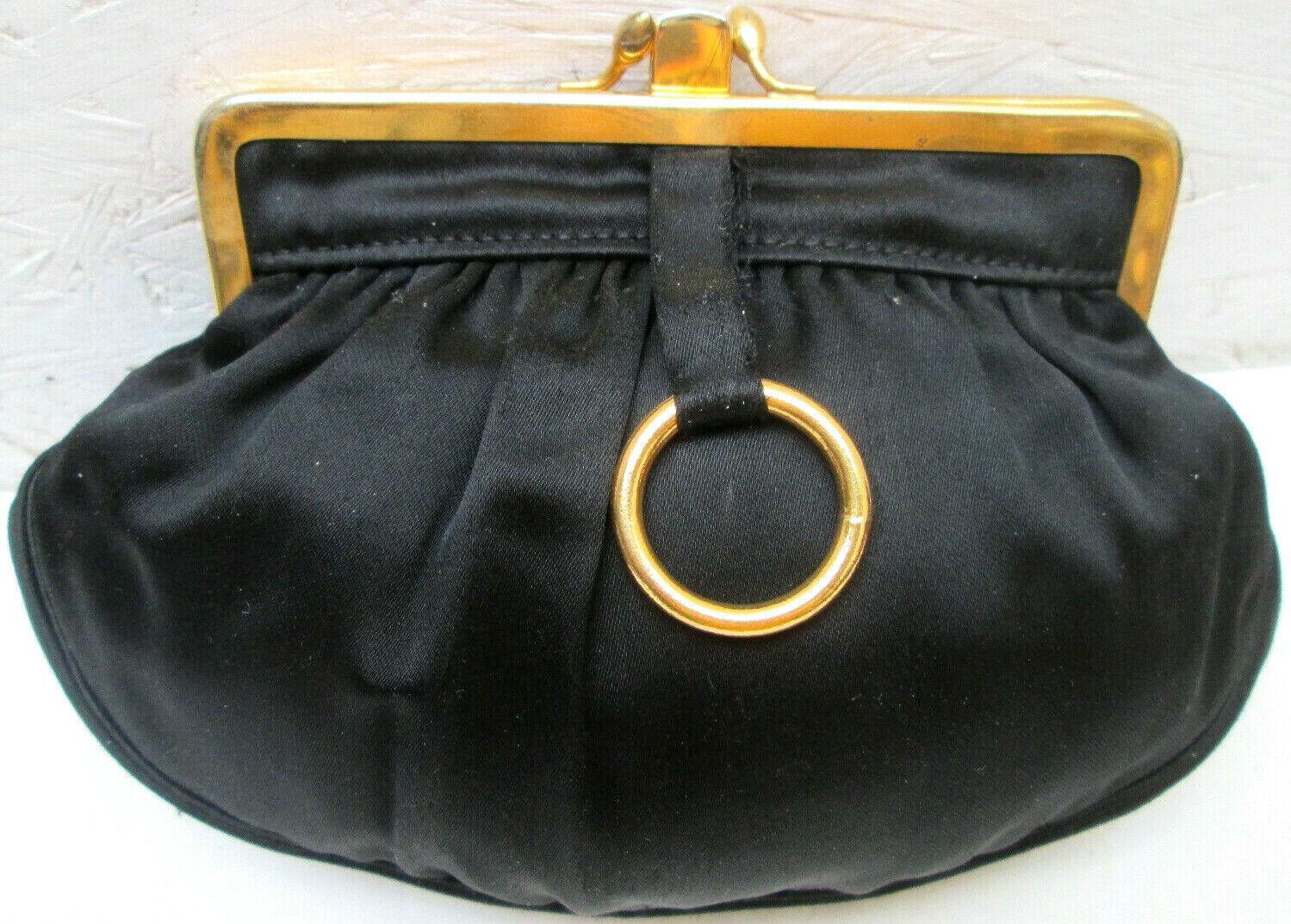 - wallet double clipsé tbeg satin vintage 70's