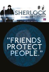 Sticker Aufkleber PräZise Sherlock Größe Ø9 Cm Friends Protect