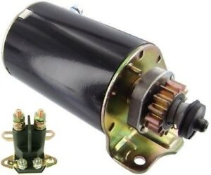 NEW 14 TOOTH STARTER & SOLENOID FOR CUB CADET BRIGGS JOHN DEERE SCOTTS SABO