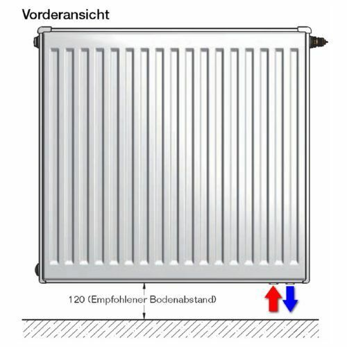 Delonghi Buderus VC-Profil Ventil Heizkörper Höhe Höhe Höhe 400 mm inkl. Halterung ef2a2a