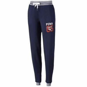 Puma-Style-Athletic-Sweatpants-Womens-Jogging-Bottoms-Navy-836404-06-Y20B