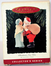 1995 Hallmark Mr and Mrs Claus Christmas Eve Kiss 10th in Series -