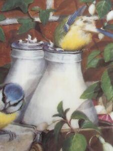 Vintage-Coalport-Decorative-Plate-Top-Of-The-Morning-Blue-Tits-Danbury-Mint-8