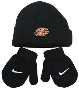 NCAA Oklahoma State Cowboys Black Beanie Winter Hat 2 PC OSU Size 2T ... c97a3d0129d0