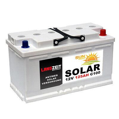 Solarbatterie 125Ah 12V Wohnmobil Boot Wohnwagen Schiff Batterie 100Ah 120Ah