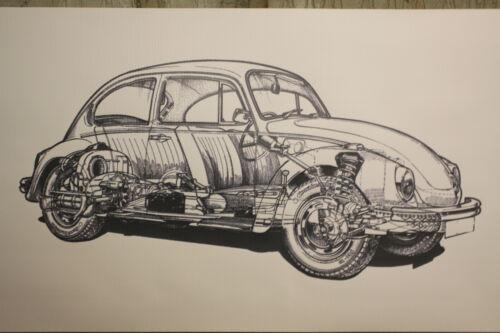 VW Beetle Tipo 1 grandi PVC Heavy Duty lavoro Negozio Banner Garage classico Show