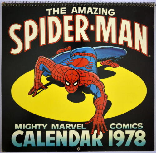 1978 Marvel AMAZING SPIDERMAN CALENDAR HAND SIGNED by George Perez