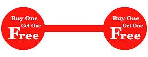 039-Compre-Uno-Y-Obtenga-Gratis-039-Rojo-Joyeria-Precio-Pegatinas-Etiquetas-Mancuernas