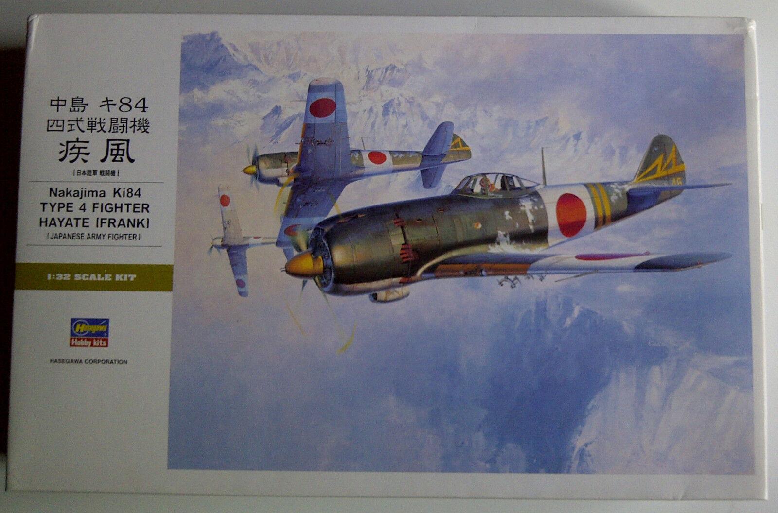 1:32 Hasegawa scale plastic model kit Nakajima Ki-84 Hayate  Frank  ST24