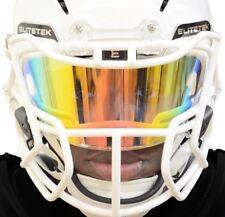 9576a15d EliteTek Color Football & Lacrosse Eye-Shield Facemask Black Gold Smoked