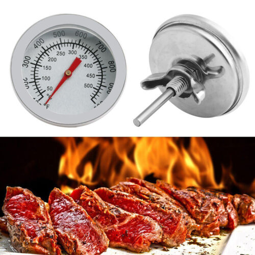 Rostfreier Stah  50-500℃ Barbecue Smoker Grill Thermometer Temperature Gauge DAP