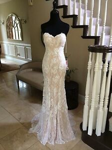 cb644307eac  440 NWT IVORY LACE JVN BY JOVANI PROM PAGEANT WEDDING DRESS GOWN ...