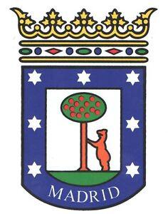 Detalles De Pegatina Vinilo Sticker Escudo Ayuntamiento De Madrid Tuning Moto