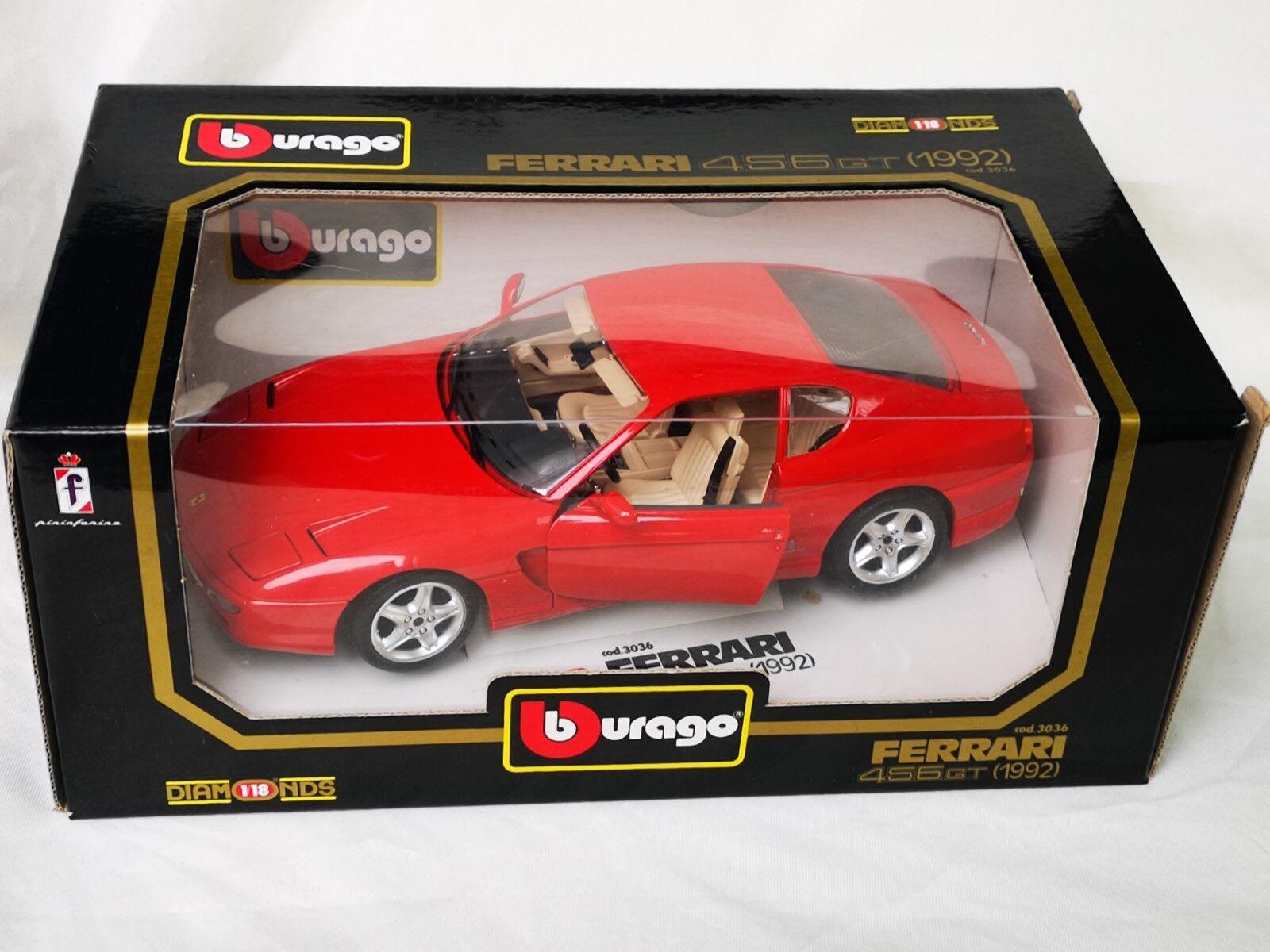 Bburago Ferrari 456 GT (1992) el elenco no de metal. 3036 1 18 en caja