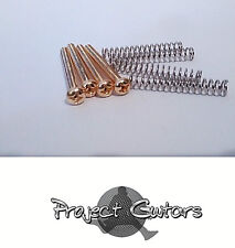 4 x Gold Humbucker Pickup Height Screws with Springs 2.8mm Thread