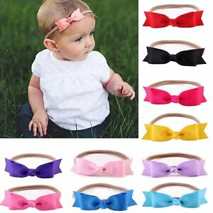 efcd7c3e6dd0 Newborn Baby Girl Toddler Kids Bow Knot Headband Hair Band Headwear ...