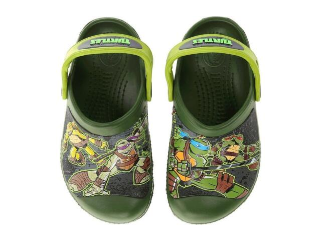 e251b6d4e76 Crocs CC TMNT Clog Toddler/little Kid/big Kid Seaweed/volt Green 4 M ...