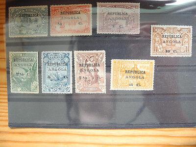 Angola Vasco da Gama overprint on Africa MH and (*) set