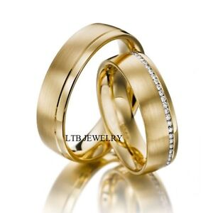 Image Is Loading His Amp Hers 14k Yellow Gold Diamond Wedding
