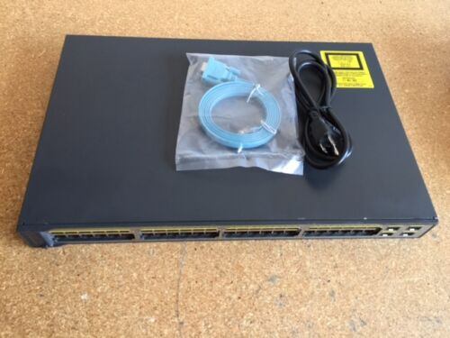 CISCO WS-C3750V2-48PS-S 48 Ethernet 10//100 ports 4 SFP POE Switch 15.0 IOS