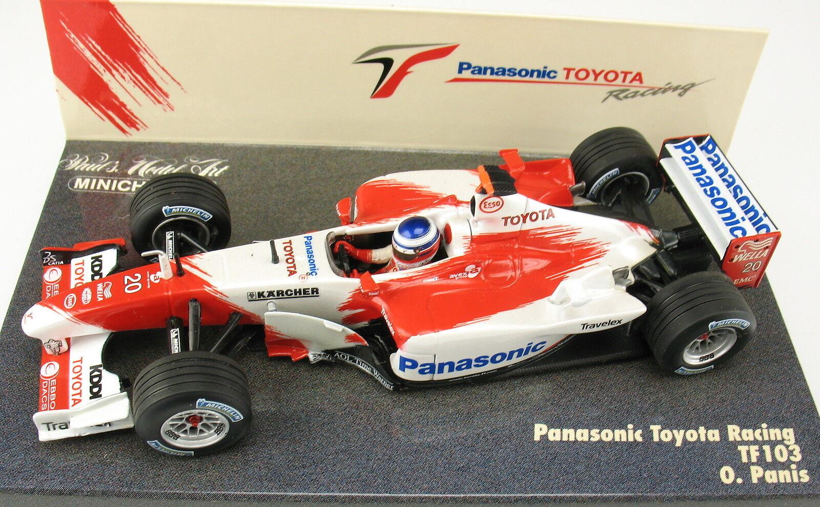 Minichamps-f1 panasonic toyota racing tf103-o panis-firmado panis-firmado panis-firmado signed - 1 43 3eee61