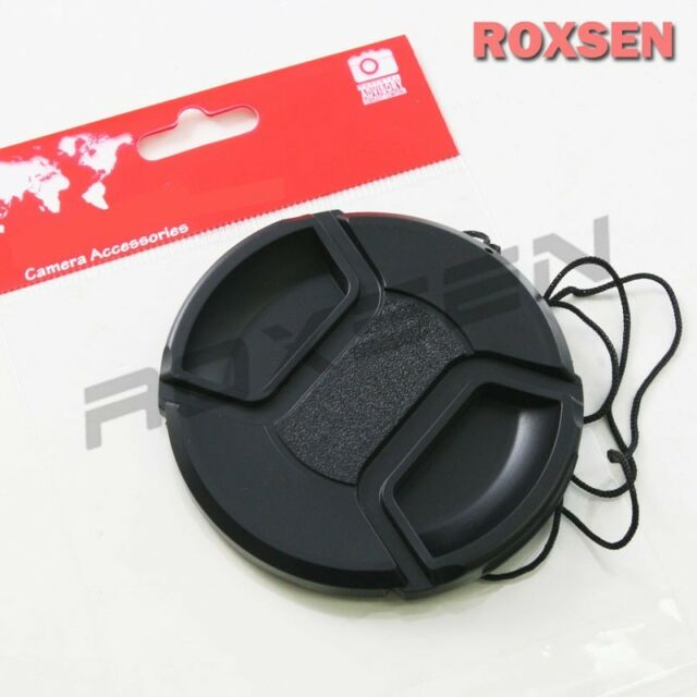 55mm center pinch snap on Front Lens Cap Cover for Canon Nikon Sony w string CA