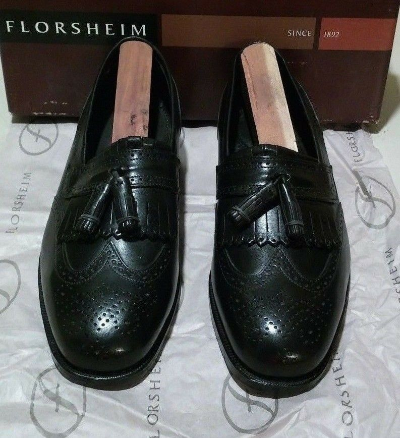 New Florsheim Everett 7 D black (614)