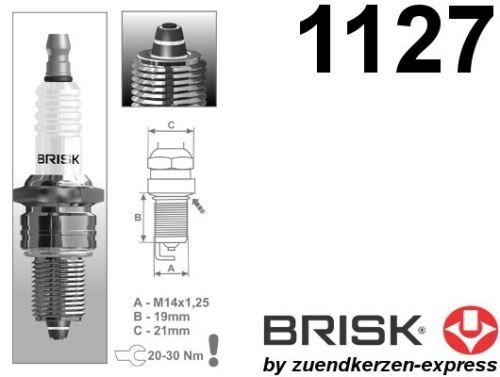 Brisk PREMIUM RACING lr14zc 1127 candele 2 pezzi by zuendkerzen-Express