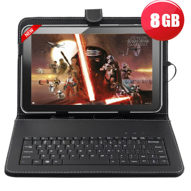 """9"""" Inch A33 Allwinner Android 4.4 Quad Core Google 8GB Tablet PC Keyboard Bundle"""
