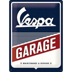 Vespa-Scooter-Garage-Workshop-Nostalgia-Tin-Sign-40-cm-New-Shield