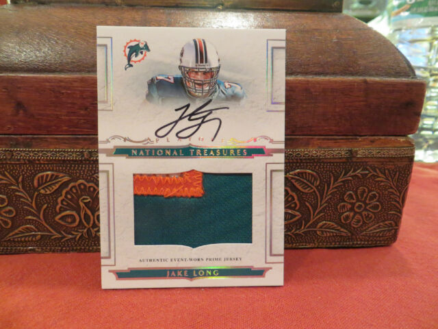 National Treasures ROOKIE Jersey Autograph Dolphins Jake Long 70/99  2008