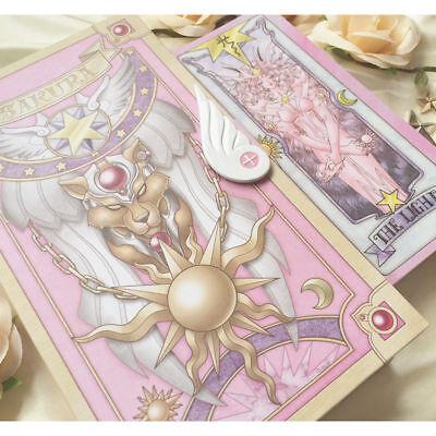 Anime 56 Piece Cardcaptor Sakura Clow Cards Set With Gold Clow Book New in Box