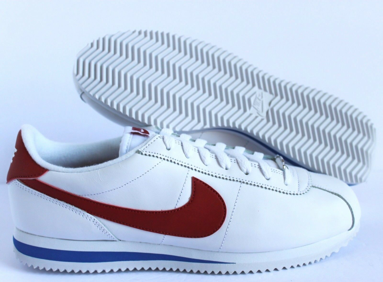 Nike cortez di cuoio og forrest gump white-red sz - 882254-164]