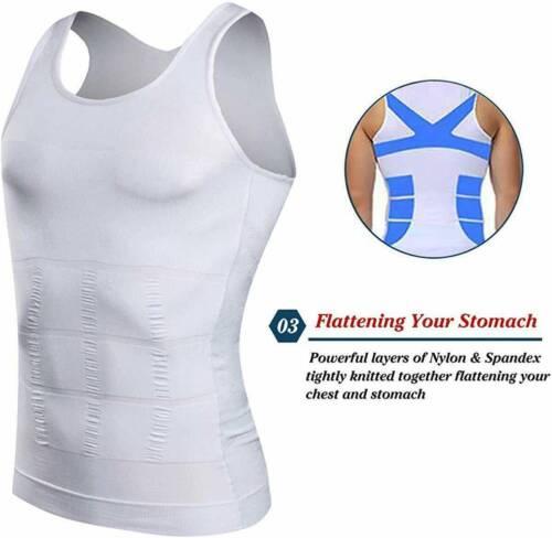 Faja Para Hombre De Adelgazamiento De Barriga De Compresión Shaper Vest Tank Top
