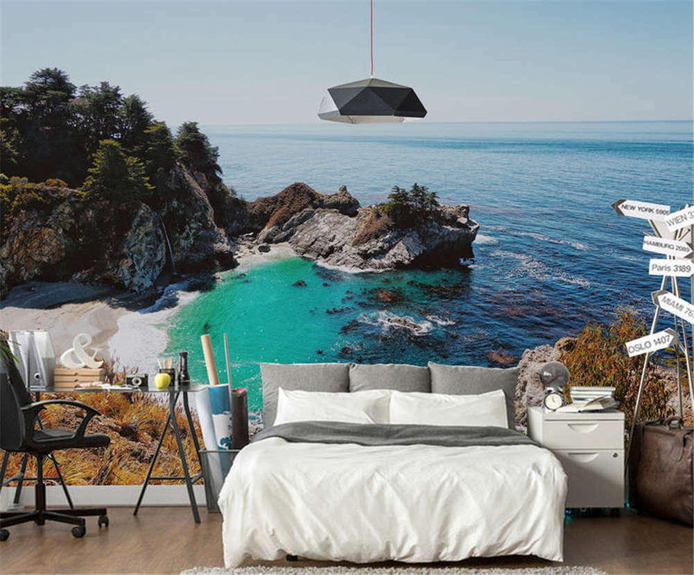 Plausible Deep Bay 3D Full Wall Mural Photo Wallpaper Printing Home Kids Decor