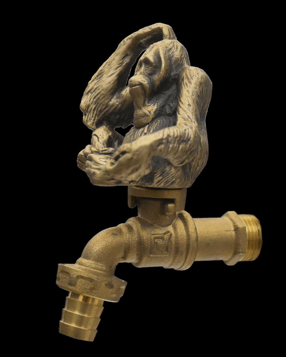 Brass Garden Tap Monkey Spigot Faucet Vintage Water Home Decor Living Outdoor
