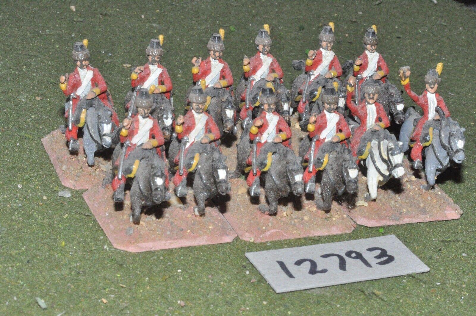 25mm 7YW   Austrian - seven years war lancers 12 cavalry - cav (12793)