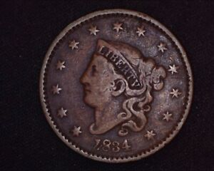 1834-Coronet-Large-Cent-Large-8-Small-Stars-Large-Letters-Matron-Head-Penny