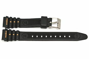 2-PIECES-TIMEX-15MM-ORANGE-BLACK-RUBBER-IRONMAN-TRIATHLON-SPORT-WATCH-BAND