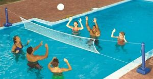 Swimline 9186 cross inground swimming pool fun volleyball for Pool design for volleyball