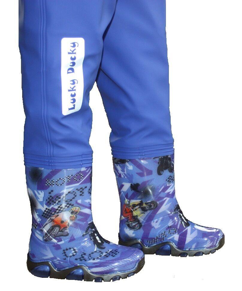 Stivali di gomma gomma gomma con pantaloni kinderwathose Bambini Impermeabili Per Ragazzi mottorad + GRATIS 752edb