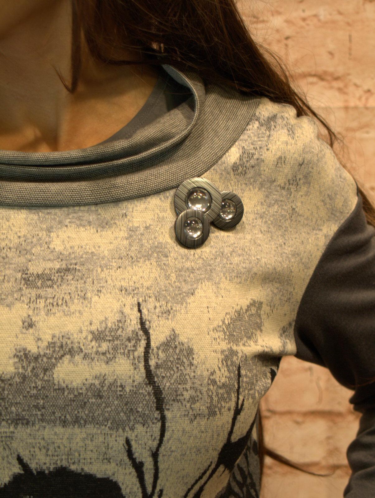 Blause Tunika Oberteil Damen Pulli Langrm Shirt Shirt Shirt Gr. 40 42 44 46 48 grau | Sehr gelobt und vom Publikum der Verbraucher geschätzt  | Elegant  | König der Quantität  714506